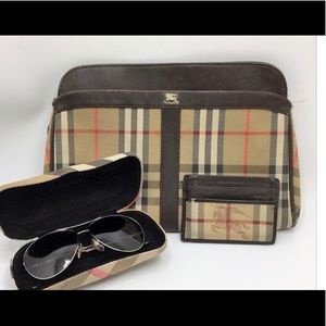 3 authentic BURBERRY bags and sunglasses